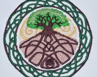 Iron-On Patch - CELTIC TREE of LIFE