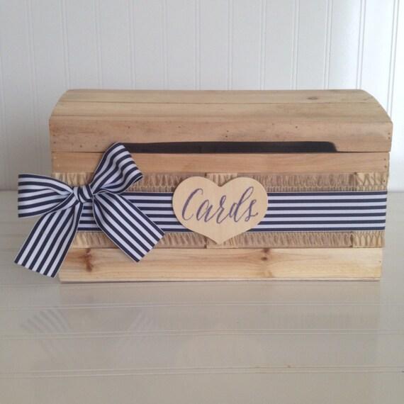 Nautical Wedding Card Box, Beach Wedding Card Holder // CH06B