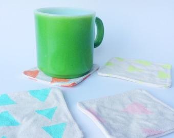 Screen Printed Fabric Coasters