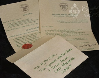 Cheaper Version - Hogwarts Acceptance letter, Harry Potter or custom!