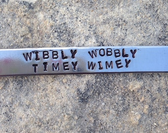 wibby wobbly timey wimey - tenth doctor cuff