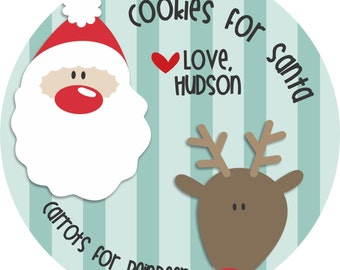 Cookies for Santa - Personalized Melamine Plate