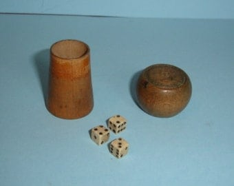 Vintage Champagne Cork With Dice