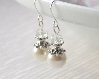 Bridesmaid earrings set of 10 ten Bridesmaid gift Bridesmaid jewelry Custom color Bridal party Beaded jewelry Wedding earrings Flower girls