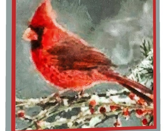 Winter Cardinal- Night Light From DoggyLips.com
