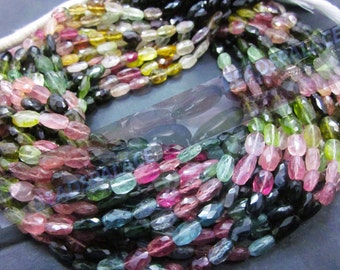 Tourmaline faceted Oval  beads 5-7 mm, 40 pieces         AAA quality