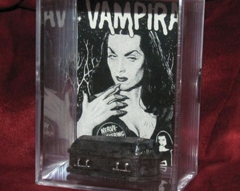 Vampira Collectible Coffin Display *Classic* Need I Say More! (Goth/classic Horror for its time!!) *Grt Gft*