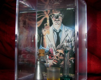 "Classic 80's Horror ""Re-Animator"" Collectible (Inspired) Display.Sits inside Acrylic Case.."