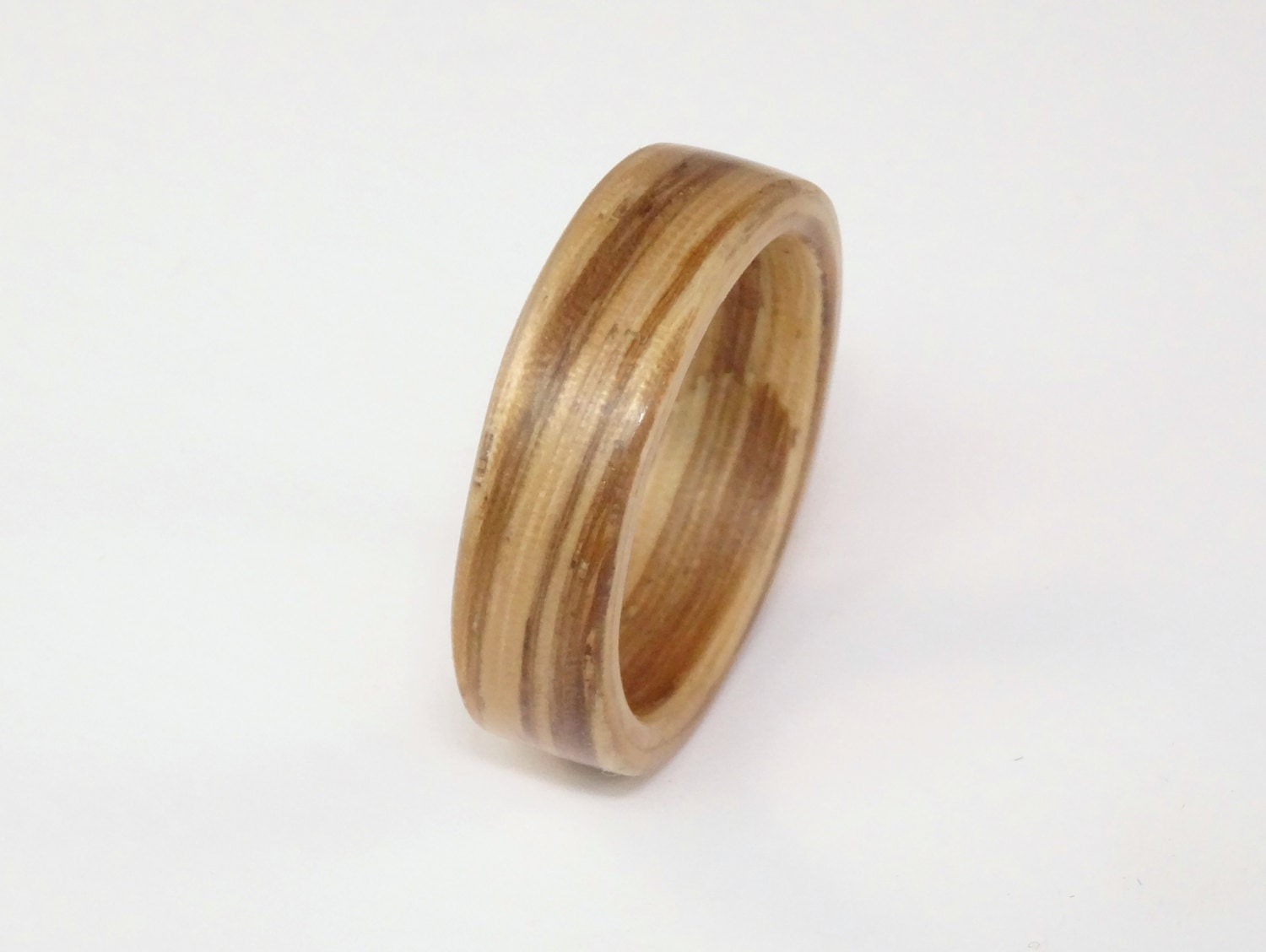 Zebrano Bent Wood Ring Hand Made Rings In Any by ZebranoWoodCraft