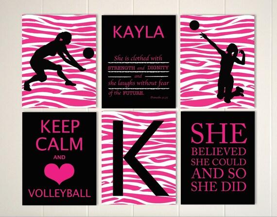 Keep Calm Volleyball Girls Art Volleyball Room Decor