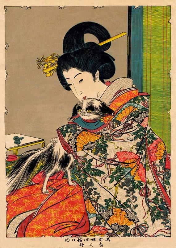 Oriental Art Paintings On Black Wood