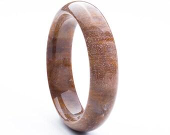 Natural Petrified Wood Stone Bracelet