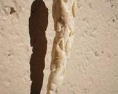 Bear Wolf Eagle Pendant Animal Totem Pendant carved Antler Rare carving