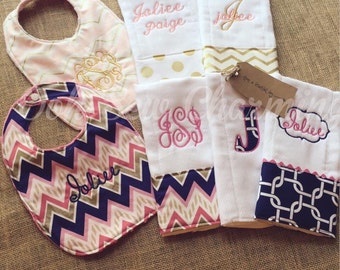 Bib and Burp Cloth Sets