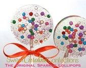 As Seen On Domino Magazine, Confetti Party Favors, Candy, Sparkle Lollipops, Lollipop, Candy Lollipop, Sweet Caroline Confections-Set of Six