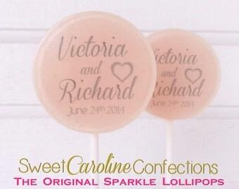Blush Peach Wedding Lollipops, Wedding Favors, Candy Lollipop, Bachelorette Favors, Party Favors, -Set of Six