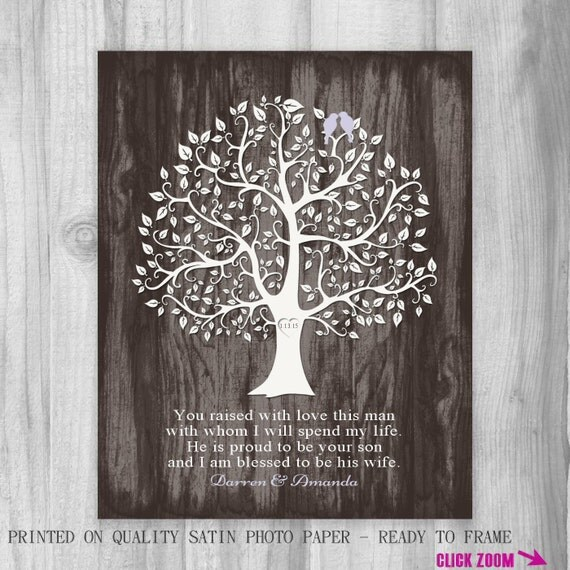 Special Wedding Gift For Daughter In Law : ... Personalized Print You Raised with Love Wedding Daughter in Law Birds