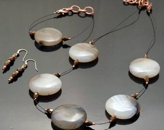 Montana Moss Agate Floating Jewelry Set
