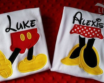 Disney Characters Legs and Feet Shirt-- Mickey, Minnie, Donald, or Daisy
