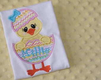 Hatched Chick Appliquéd Shirt- Personalized