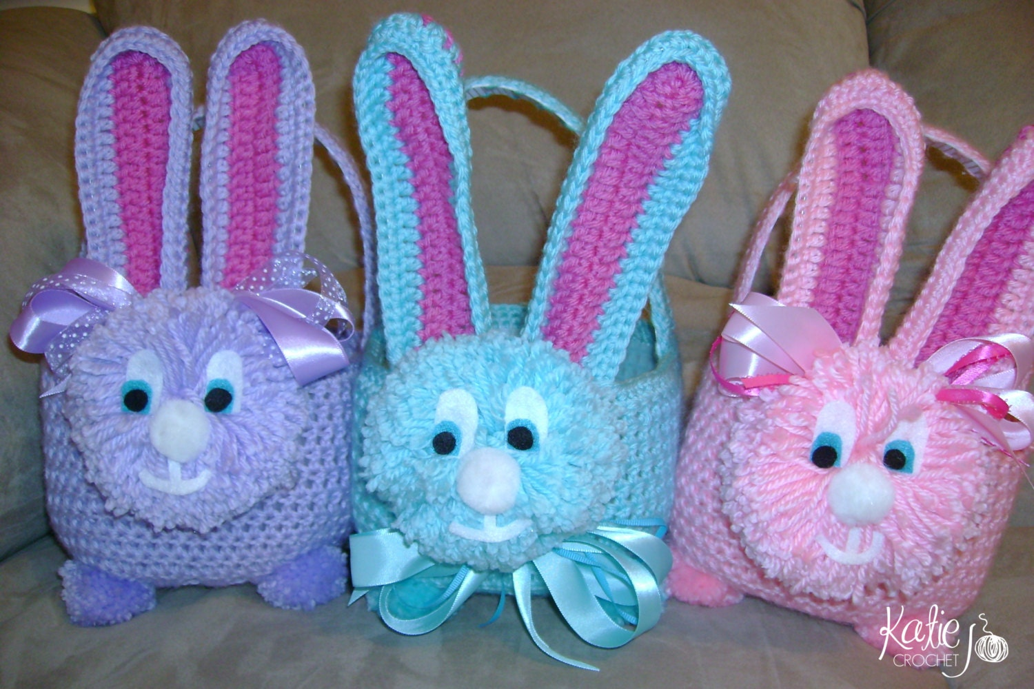 Free Crochet Patterns For Easter Bunny Baskets : Easter Bunny Basket Crochet Pattern