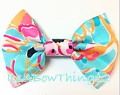 Lilly Pulitzer Fabric Peel and Eat Pink Flamingos Preppy Printed Fabric Bow