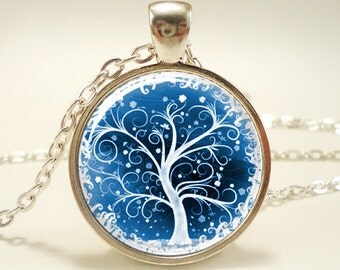 tree of life picture pendant necklace