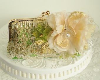 French Vintage / Vintage Wedding / Green Wedding /  Marie Antoinette / Vintage Bride