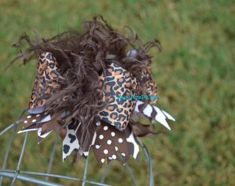 Over the top safari bow over the top animal print leopard bow zebra bow safari bow animal bow
