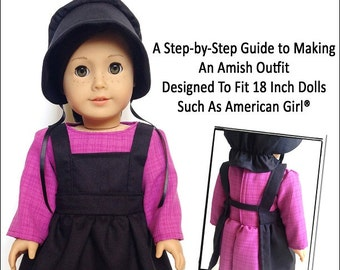 Pixie Faire Miche Designs Amish Outfit Doll Clothes Pattern for 18 inch American Girl Dolls - PDF