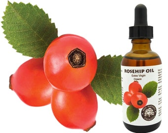 Rosehip Seed Oil - Organic, Virgin, Cold Pressed, Undiluted, Unrefined. Anti-aging, stretch marks