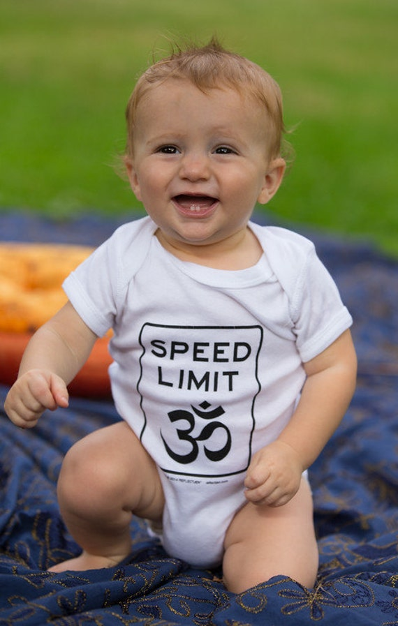 Speed Limit Om®  Baby Onesie
