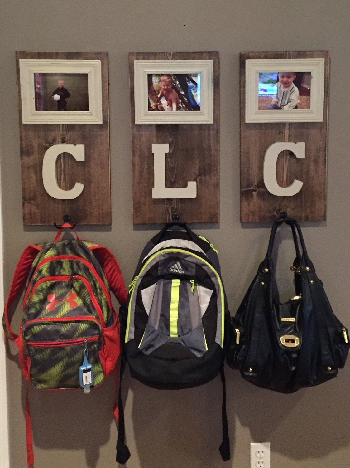 Personalize Coat And Or Backpack Hooks
