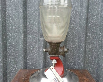 Up cycled table lamp