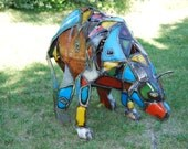 Made to Order Customized Metal Bear Sculpture Made out of Found Objects By Jacob Novinger