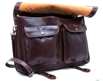 Leather messenger bag office bag mens business shoulder bag satchel xxl black brown