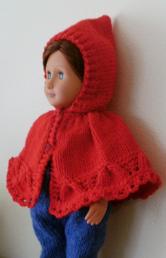 Red Cape Knitting Pattern : NEW Knitting Pattern. Little Red Riding Hood for PREEMIE and