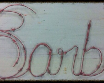 Barbie, Barby, Doll, Barbie Doll, Wire Names, Wire Art, Name Sculpture, Name Design, Name art, Custom Name, Artist, Wire Artist
