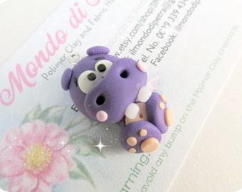Little Handmade Polymer Clay Little Hippo Charm Kawaii