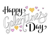 Items similar to Happy Galentines Day Postcard - Leslie ...