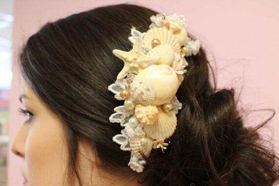 Seashell hair comb hair accessories beach wedding for Seashells for hair