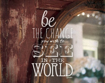 MA1040 - Mirror... Be the change you wish to see in the world