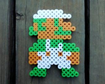 Luigi 8-Bit Perler