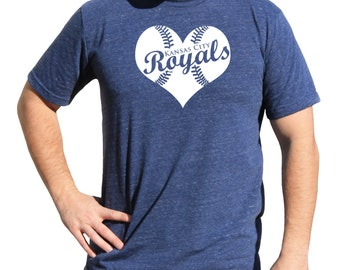 Love Kansas City Royals World Series Baseball Heart League