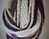 Crochet Pattern - Chain Rope Necklace Infinity Scarf