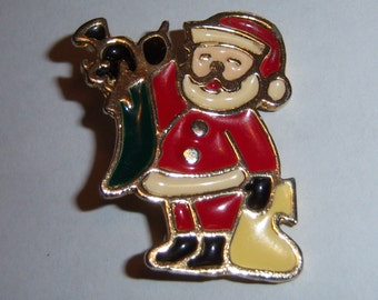BJ Santa Brooch