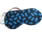 Blue Police Box on a black field Sleep Mask
