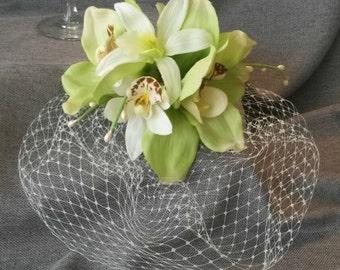 Beach  Wedding  Orchid  Cage Veil