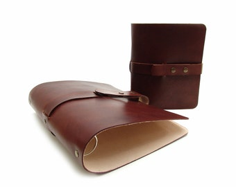 Ring binder OX Office Bonny Maroon A4 - South German cowhide - Vicky's World - handmade Made in Germany