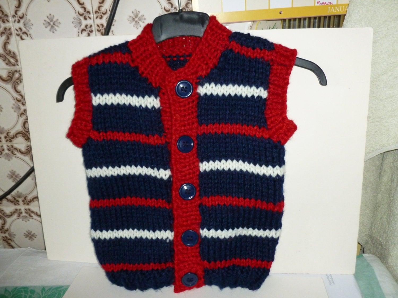 Gilet Knitting Pattern Free : Hand knitted gilet for children